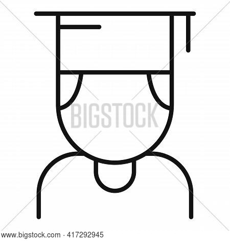 Inclusive Student Icon. Outline Inclusive Student Vector Icon For Web Design Isolated On White Backg