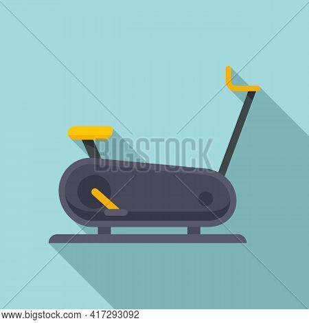 Exercise Bike Icon. Flat Illustration Of Exercise Bike Vector Icon For Web Design