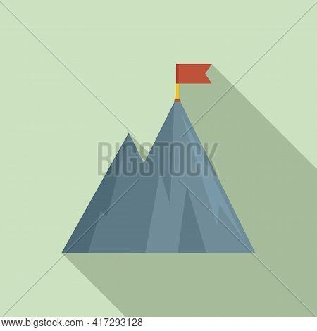 Hiking Mountain Trainer Icon. Flat Illustration Of Hiking Mountain Trainer Vector Icon For Web Desig