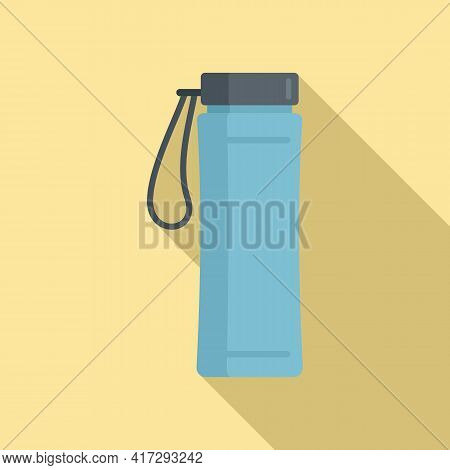 Gym Water Bottle Icon. Flat Illustration Of Gym Water Bottle Vector Icon For Web Design