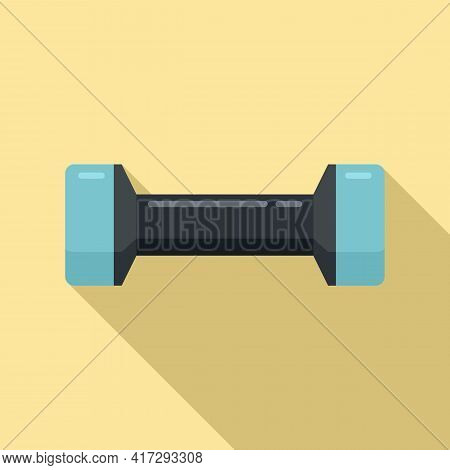 Gym Dumbbell Icon. Flat Illustration Of Gym Dumbbell Vector Icon For Web Design