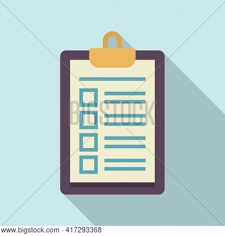 Personal Trainer Clipboard Icon. Flat Illustration Of Personal Trainer Clipboard Vector Icon For Web