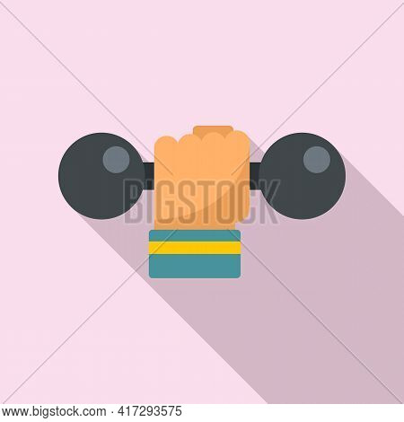 Handle Dumbbell Icon. Flat Illustration Of Handle Dumbbell Vector Icon For Web Design