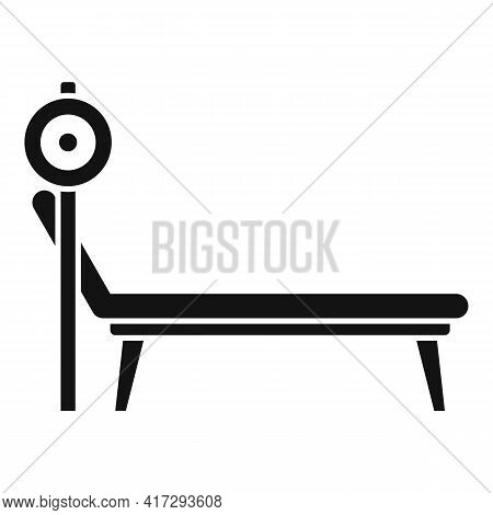 Gym Bench Icon. Simple Illustration Of Gym Bench Vector Icon For Web Design Isolated On White Backgr
