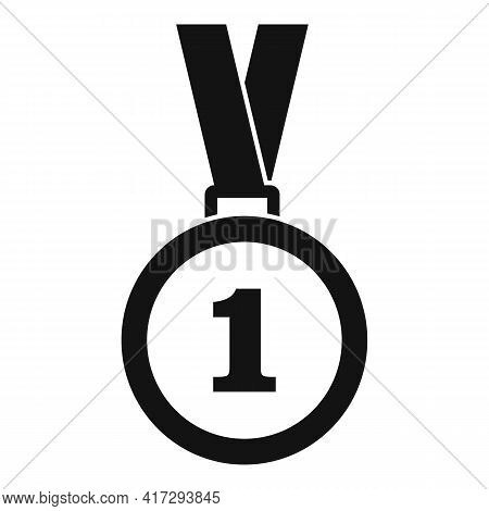 Trainer Gold Medal Icon. Simple Illustration Of Trainer Gold Medal Vector Icon For Web Design Isolat