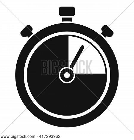 Personal Trainer Stopwatch Icon. Simple Illustration Of Personal Trainer Stopwatch Vector Icon For W