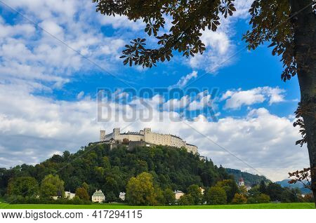Hohensalzburg Is One Of The Largest Medieval Fortresses In Europe. Located On The Top Of Mount Festu