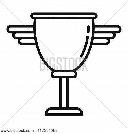 Personal Trainer Cup Icon. Outline Personal Trainer Cup Vector Icon For Web Design Isolated On White
