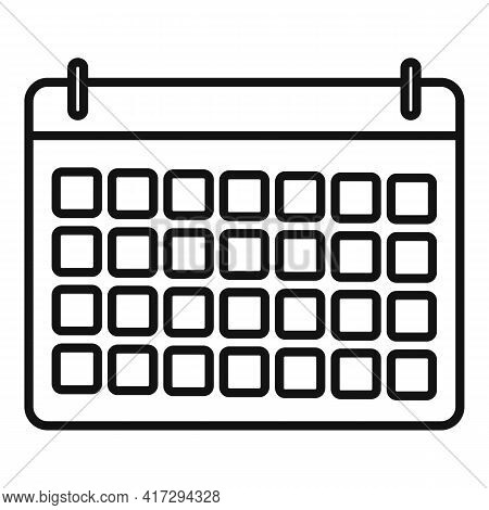 Personal Trainer Calendar Icon. Outline Personal Trainer Calendar Vector Icon For Web Design Isolate