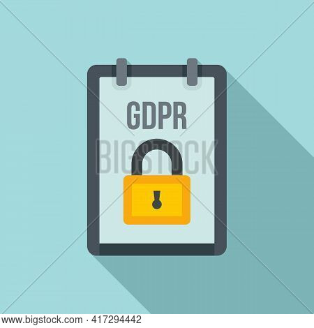 Gdpr Personal Information Icon. Flat Illustration Of Gdpr Personal Information Vector Icon For Web D