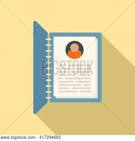 Personal Information Form Icon. Flat Illustration Of Personal Information Form Vector Icon For Web D