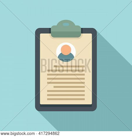 Personal Information Clipboard Icon. Flat Illustration Of Personal Information Clipboard Vector Icon