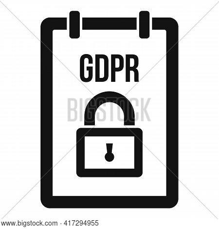 Gdpr Personal Information Icon. Simple Illustration Of Gdpr Personal Information Vector Icon For Web