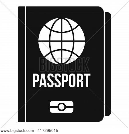 Personal Information Passport Icon. Simple Illustration Of Personal Information Passport Vector Icon