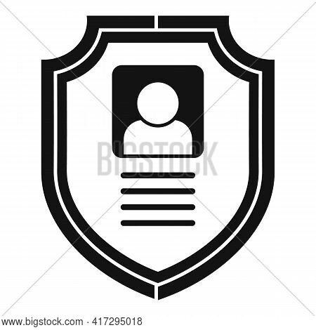 Secured Personal Information Icon. Simple Illustration Of Secured Personal Information Vector Icon F