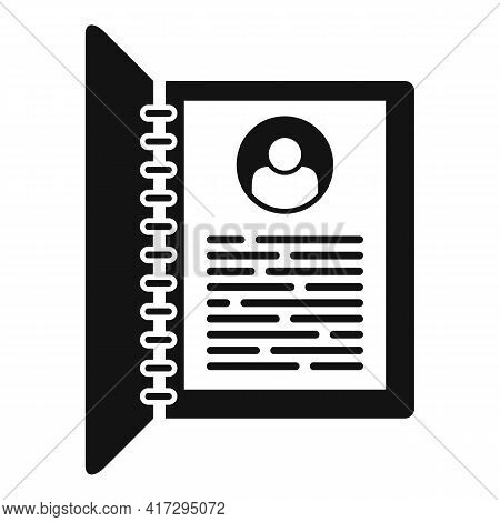 Personal Information Form Icon. Simple Illustration Of Personal Information Form Vector Icon For Web
