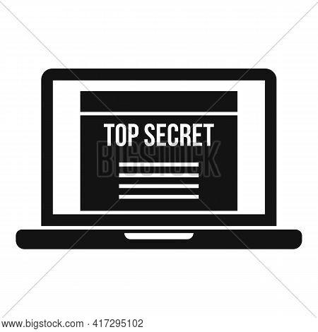 Top Secret Personal Information Icon. Simple Illustration Of Top Secret Personal Information Vector