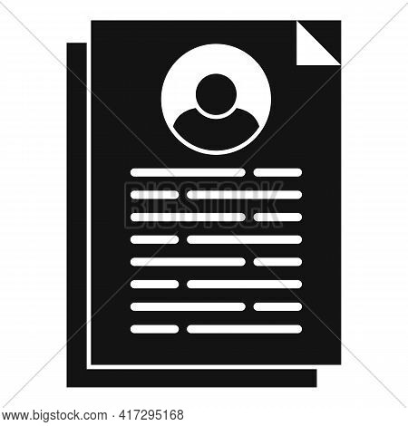 Cv Information Icon. Simple Illustration Of Cv Information Vector Icon For Web Design Isolated On Wh