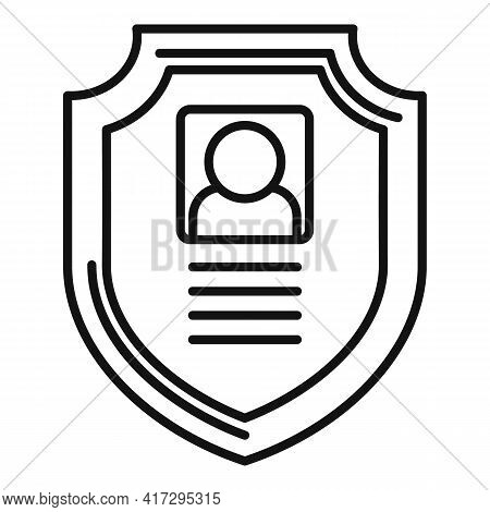 Secured Personal Information Icon. Outline Secured Personal Information Vector Icon For Web Design I