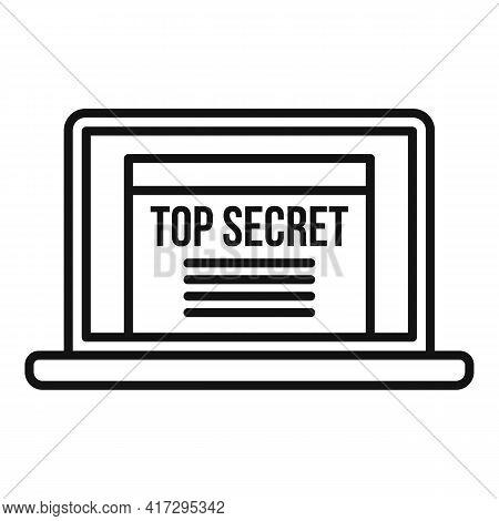 Top Secret Personal Information Icon. Outline Top Secret Personal Information Vector Icon For Web De