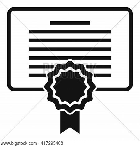 Diploma Personal Traits Icon. Simple Illustration Of Diploma Personal Traits Vector Icon For Web Des