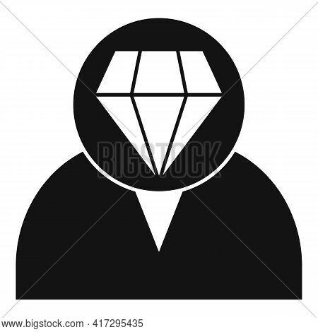 Diamond Personal Traits Icon. Simple Illustration Of Diamond Personal Traits Vector Icon For Web Des