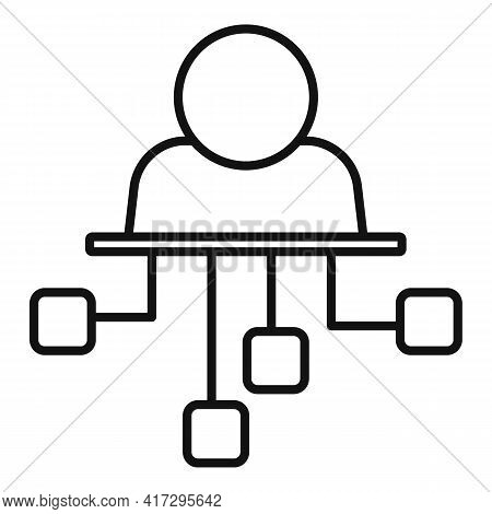 Scheme Personal Traits Icon. Outline Scheme Personal Traits Vector Icon For Web Design Isolated On W
