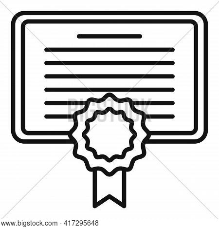 Diploma Personal Traits Icon. Outline Diploma Personal Traits Vector Icon For Web Design Isolated On