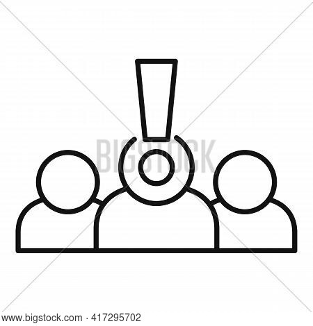 Group Personal Traits Icon. Outline Group Personal Traits Vector Icon For Web Design Isolated On Whi