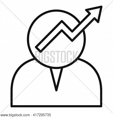 Grow Personal Traits Icon. Outline Grow Personal Traits Vector Icon For Web Design Isolated On White