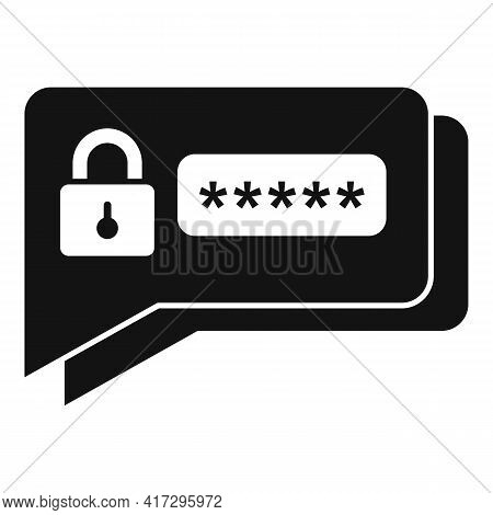 Sms Authentication Icon. Simple Illustration Of Sms Authentication Vector Icon For Web Design Isolat