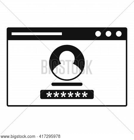 Web Authentication Icon. Simple Illustration Of Web Authentication Vector Icon For Web Design Isolat