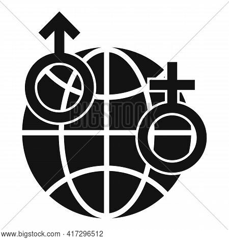 Global Gender Empowerment Icon. Simple Illustration Of Global Gender Empowerment Vector Icon For Web