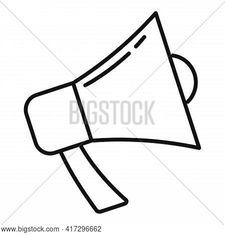 Empowerment Megaphone Icon. Outline Empowerment Megaphone Vector Icon For Web Design Isolated On Whi