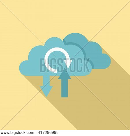 Update Software From Cloud Icon. Flat Illustration Of Update Software From Cloud Vector Icon For Web