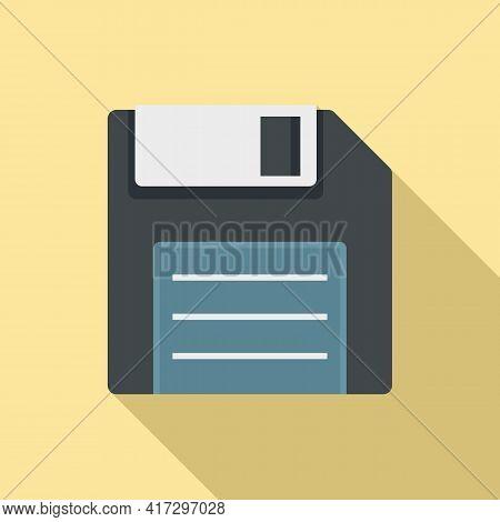 Floppy Disk Icon. Flat Illustration Of Floppy Disk Vector Icon For Web Design