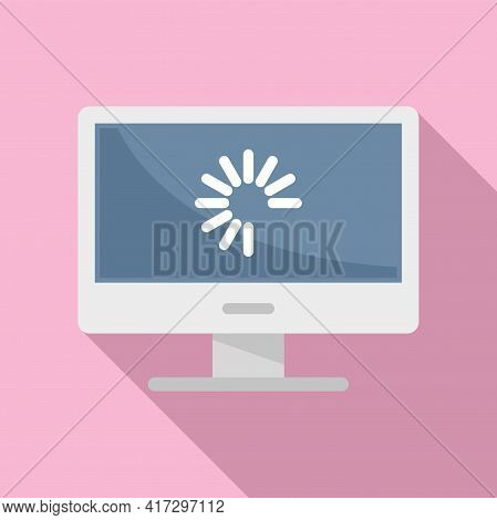 Pc Update System Icon. Flat Illustration Of Pc Update System Vector Icon For Web Design