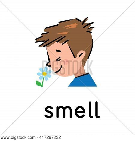 Smell. Icon Of One Of Five Senses