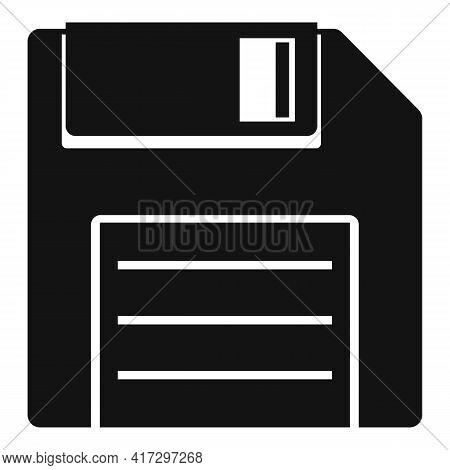 Floppy Disk Icon. Simple Illustration Of Floppy Disk Vector Icon For Web Design Isolated On White Ba