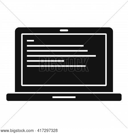 Laptop Operating System Icon. Simple Illustration Of Laptop Operating System Vector Icon For Web Des