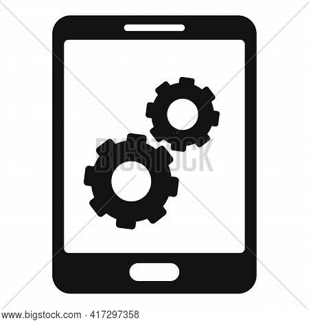 Update Software Tablet Icon. Simple Illustration Of Update Software Tablet Vector Icon For Web Desig