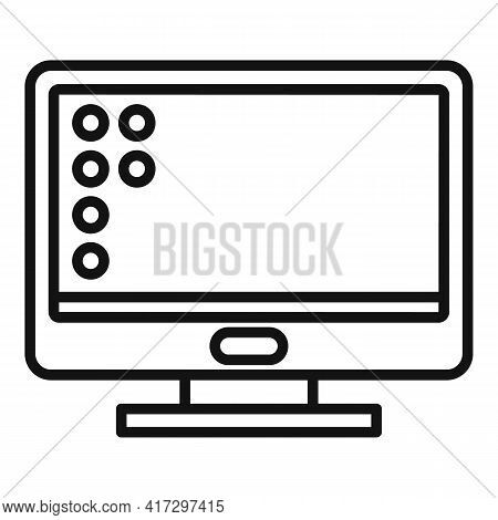 Monitor Operating System Icon. Outline Monitor Operating System Vector Icon For Web Design Isolated