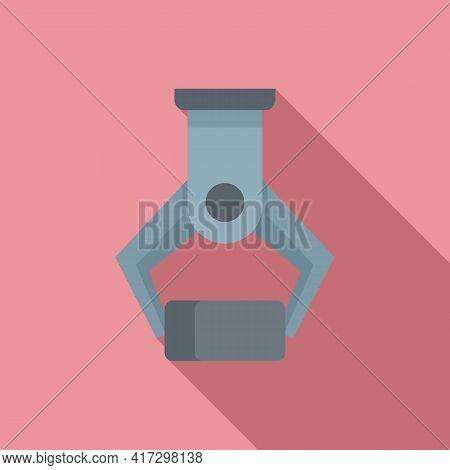 Metallurgy Crane Hook Icon. Flat Illustration Of Metallurgy Crane Hook Vector Icon For Web Design