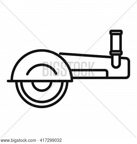 Angle Grinder Icon. Outline Angle Grinder Vector Icon For Web Design Isolated On White Background