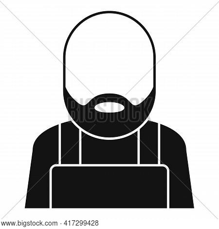 Blacksmith Man Icon. Simple Illustration Of Blacksmith Man Vector Icon For Web Design Isolated On Wh