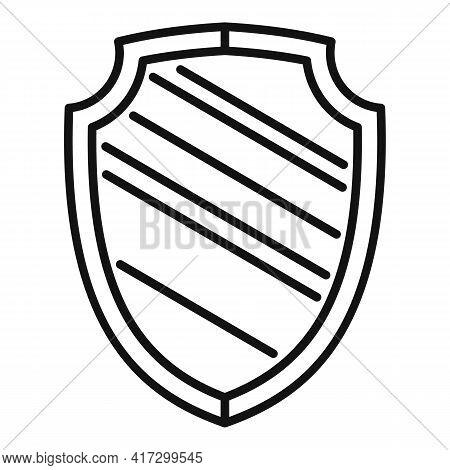 Blacksmith Shield Icon. Outline Blacksmith Shield Vector Icon For Web Design Isolated On White Backg