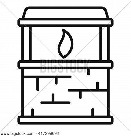 Blacksmith Fire Icon. Outline Blacksmith Fire Vector Icon For Web Design Isolated On White Backgroun