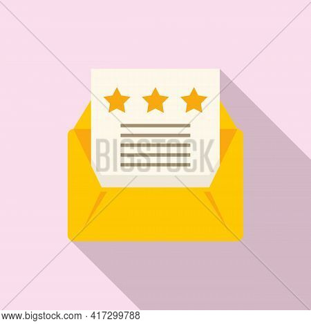 Attestation Mail Icon. Flat Illustration Of Attestation Mail Vector Icon For Web Design