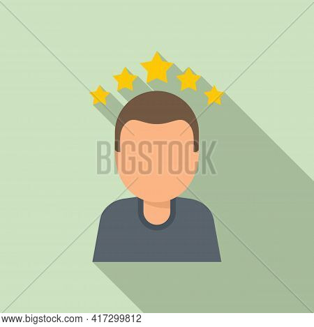 Attestation Rating Icon. Flat Illustration Of Attestation Rating Vector Icon For Web Design