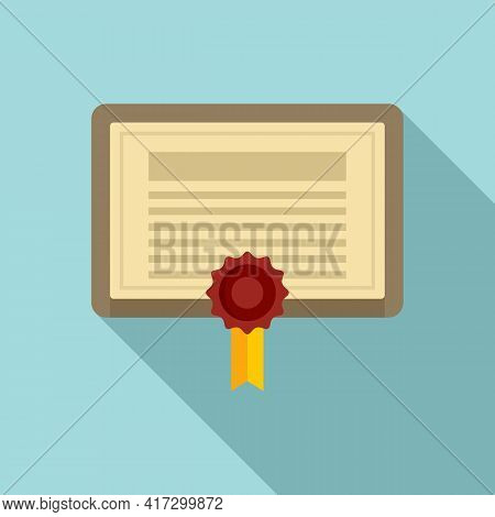 Attestation Certificate Icon. Flat Illustration Of Attestation Certificate Vector Icon For Web Desig